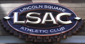 Image of custom dimensional facade sign for the Lincoln Square Athletic Club on Lincoln Ave in Chicago,IL
