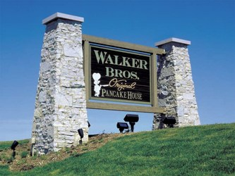 Image of Walker Bros. Pancake House  Monument Sign in Lake Zurich, IL