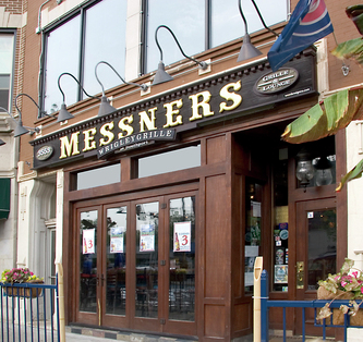 Image of wooden Facade Sign for Messners in Wrigleyville Chicago,IL Cubs