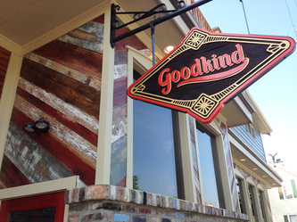 Image of Goodkind Sign, Goodkind wooden sign, Goodkind, bayview sign, Milwaukee Sign Makers, Goodkind Sign, Sandblasted Signs Wisconsin, Wood Signs Milwaukee, Sign makers milwaukee