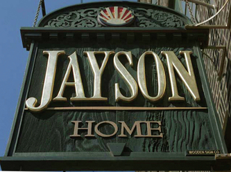Image of Jayson Home and Garden Sign, Wooden Signs Milwaukee