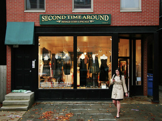 Image of Second Time Around Sign in Wicker park Chicago, Wood Signs Lake Geneva